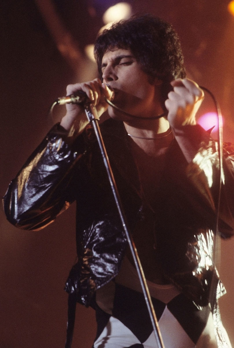 Freddie Mercury in New Haven, CT at a WPLR Show.