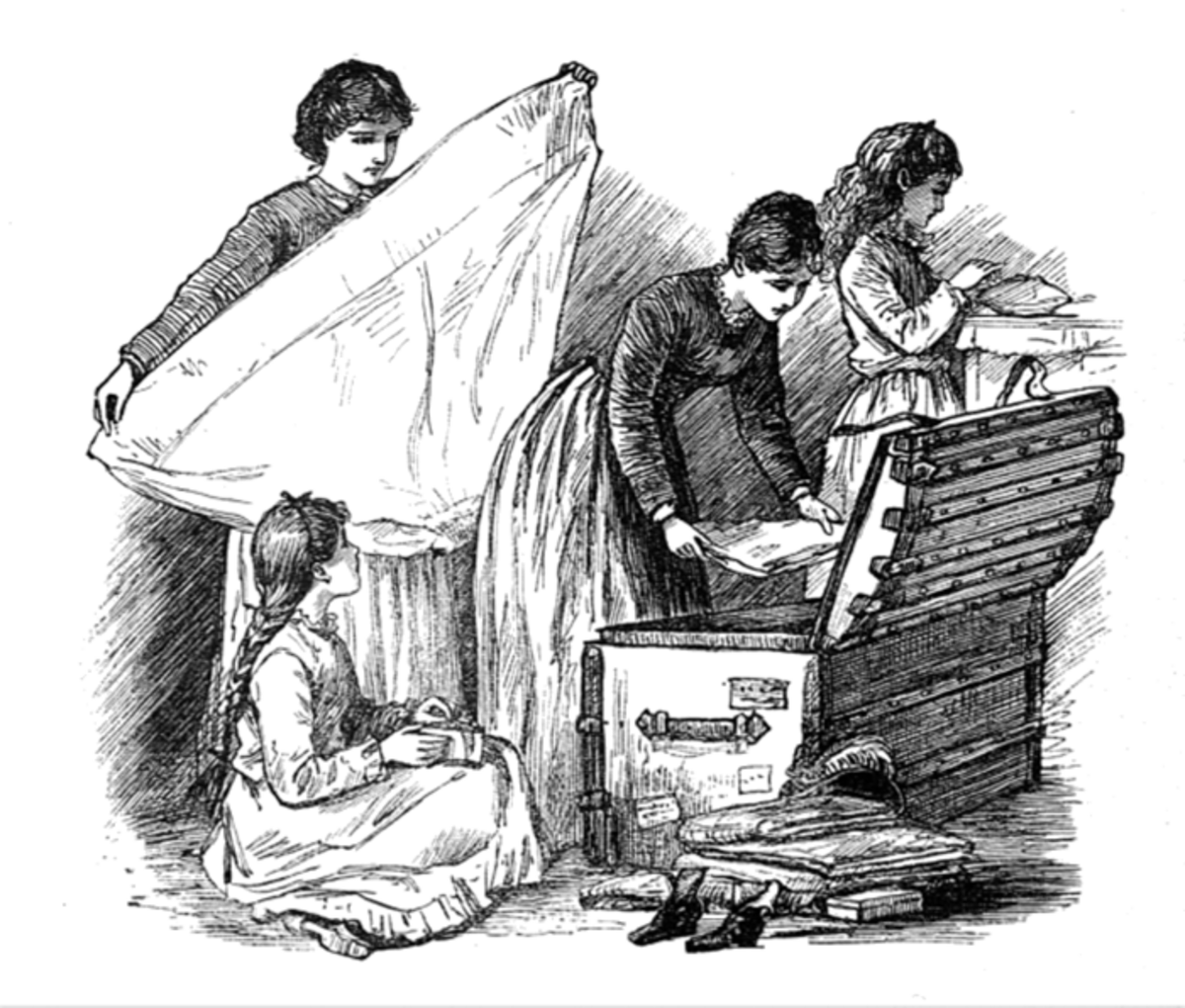 Family in Little Women and Huck Finn