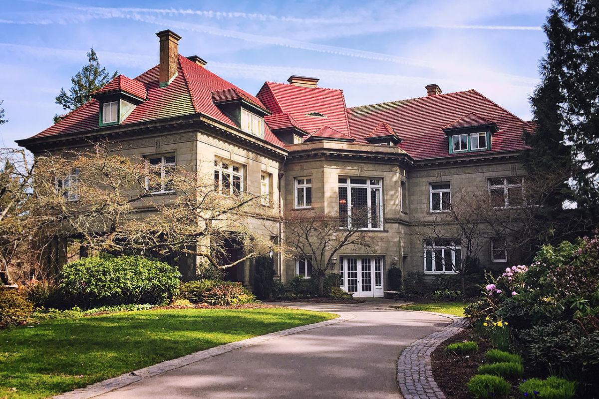 Exterior view of the Pittock Mansion in Portland, Oregon