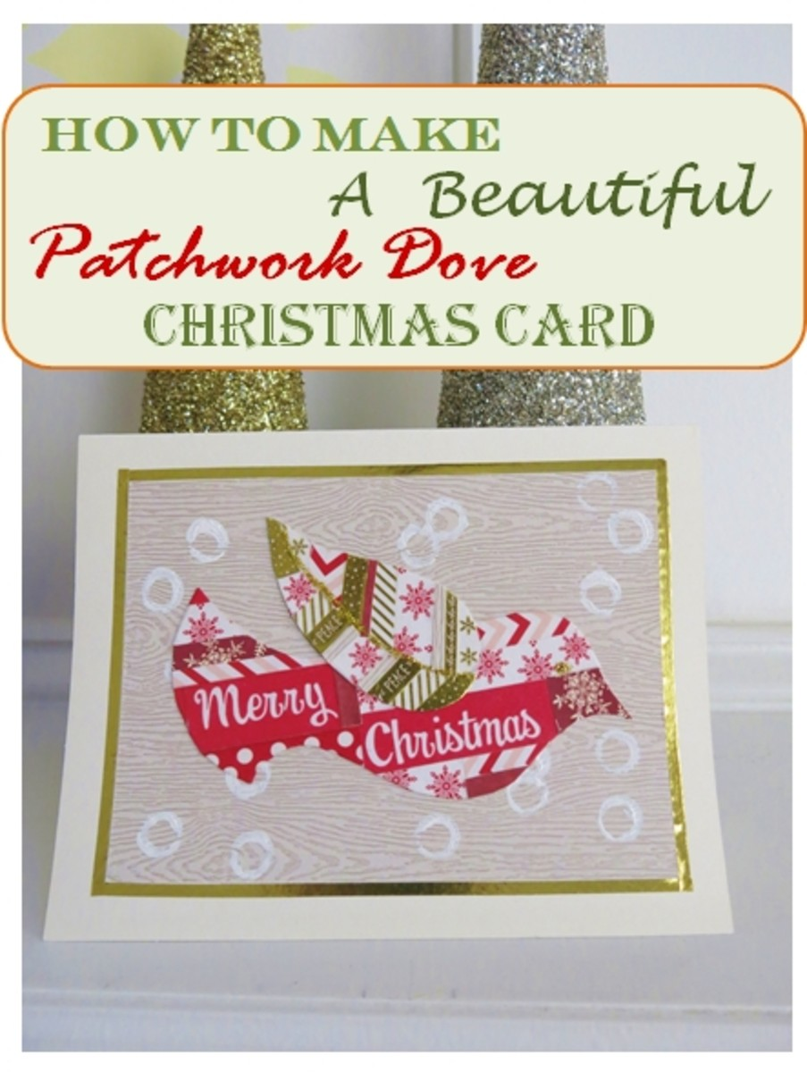 How to Make a Patchwork Dove Christmas Card for the Holidays