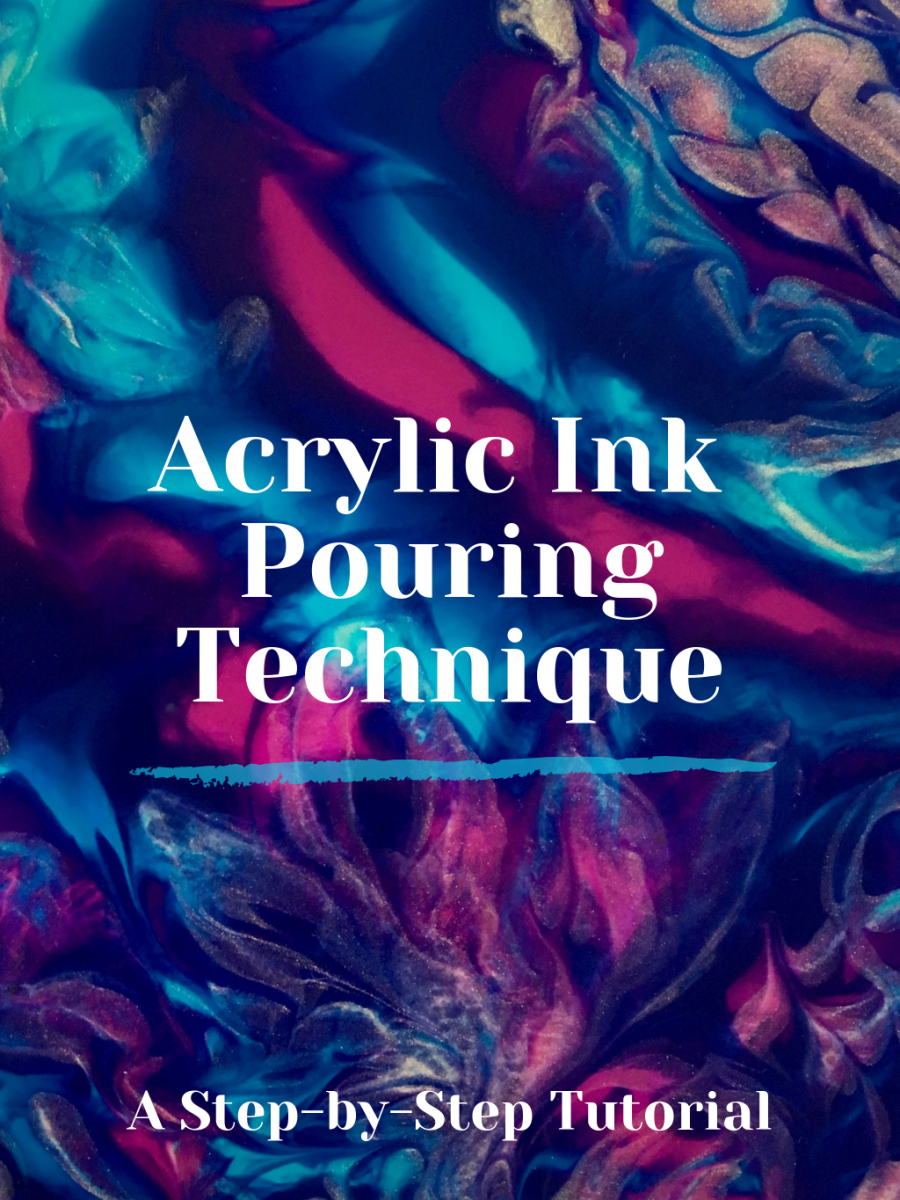 Learn acrylic ink pouring in this tutorial for beginners.