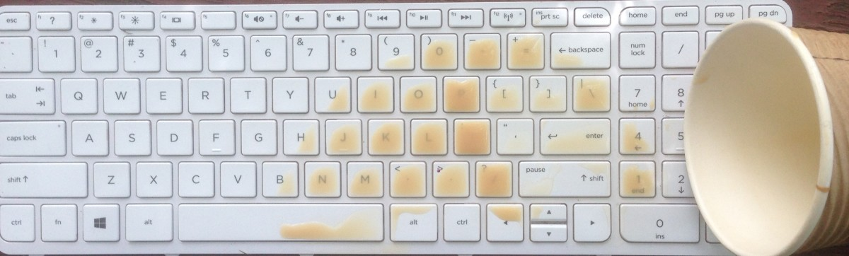 Help! I've spilled my drink on my laptop!