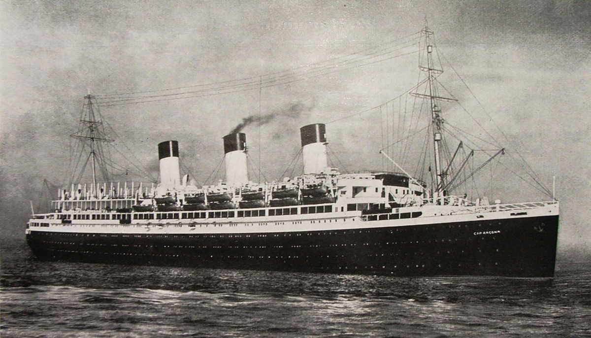 The SS Cap Arcona in happier days.