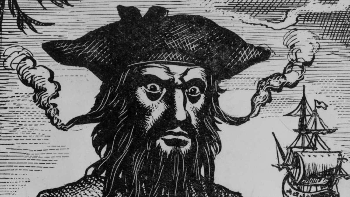 Appropriate that the cops would meet in a place named after a criminal. A 'scourge of the seven seas' BLACKBEARD