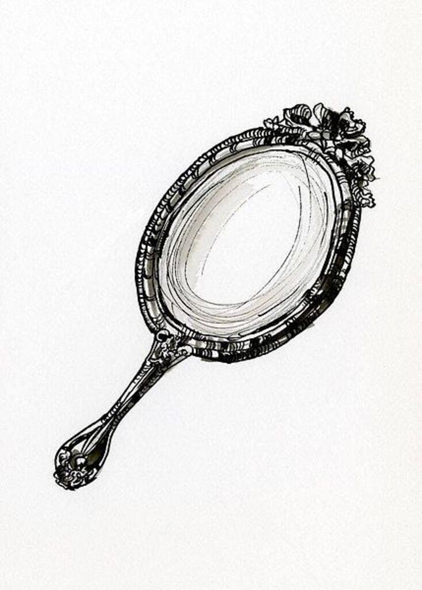 Gazing Into Mirror Twain Letterpile