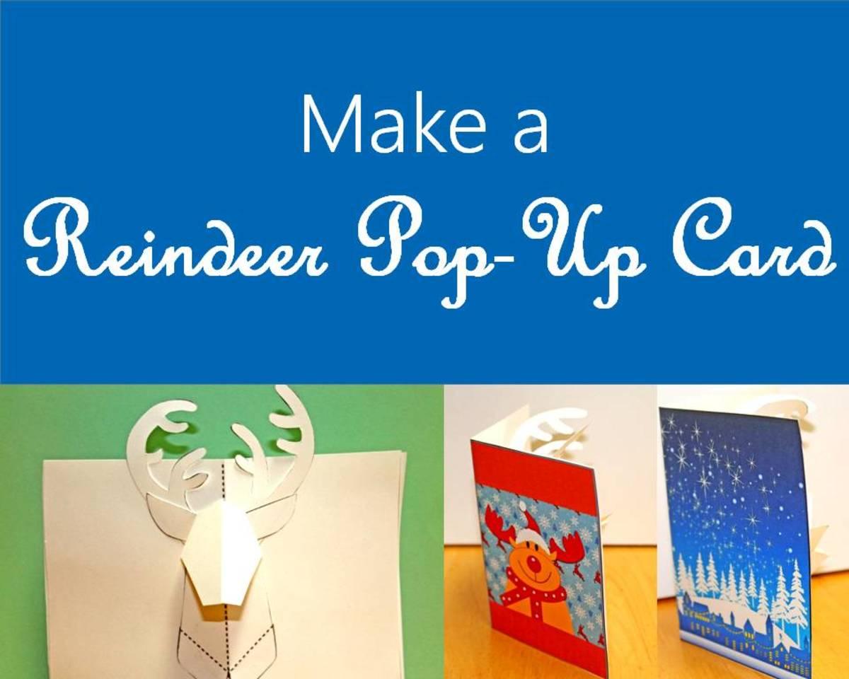 Printable Reindeer Pop-Up Cards