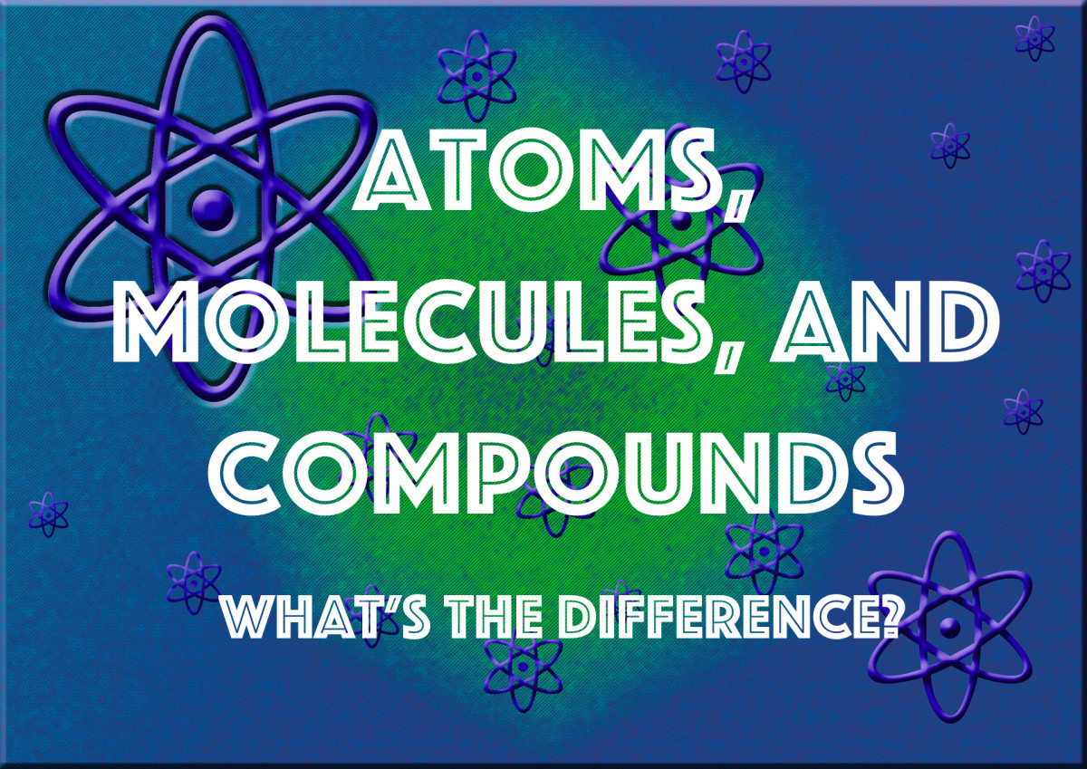This article discusses the difference between atoms, molecules, and compounds.