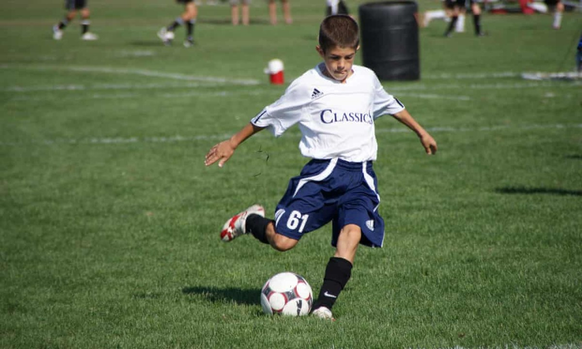 Christian Pulisic playing soccer at age 9 for academy team PA Classics.