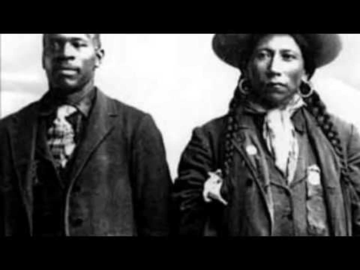 Bass Reeves With Native American partner