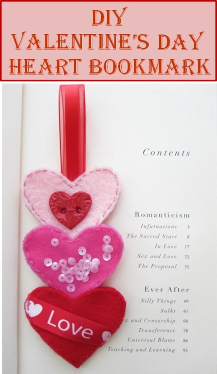 DIY Valentine's Day Heart Bookmark