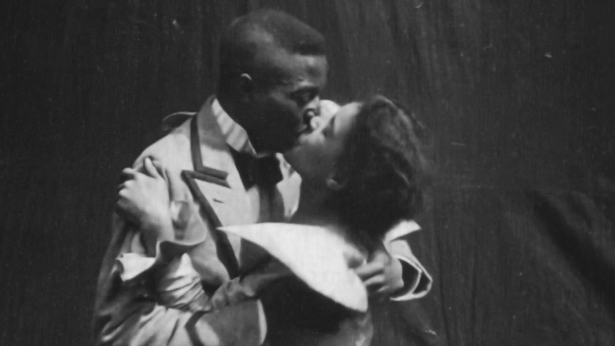 Still from Something Good - Negro Kiss (1898)