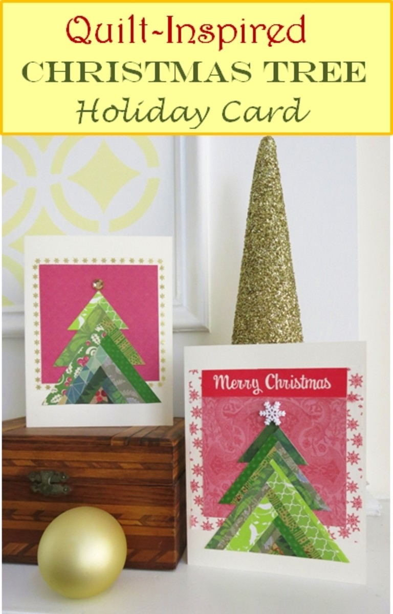 How to Make a Quilt-Inspired Christmas Tree Holiday Card