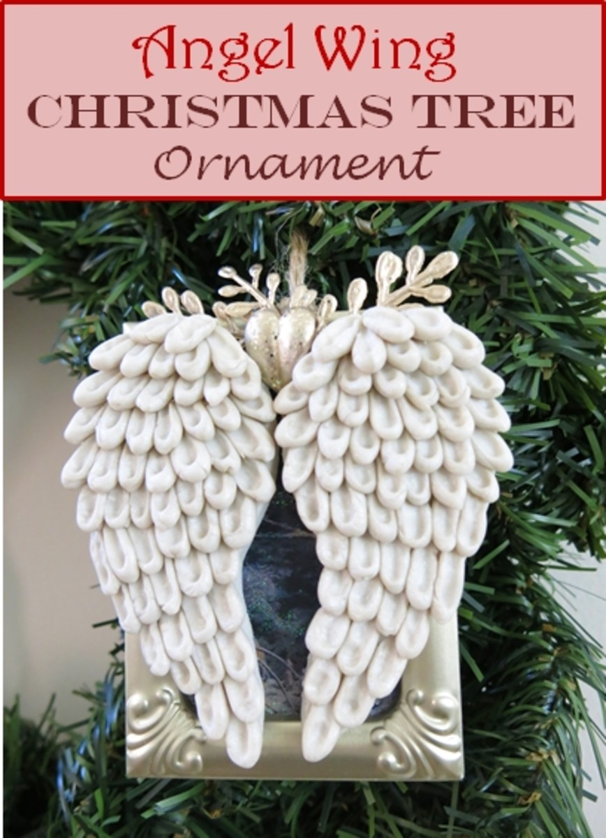 How to Make an Angel Wings Christmas Ornament With Polymer Clay