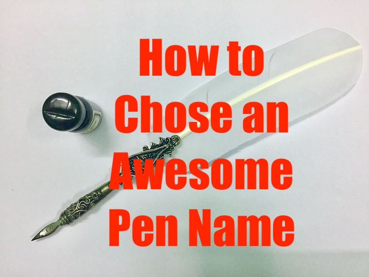How to Choose an Awesome Pen Name