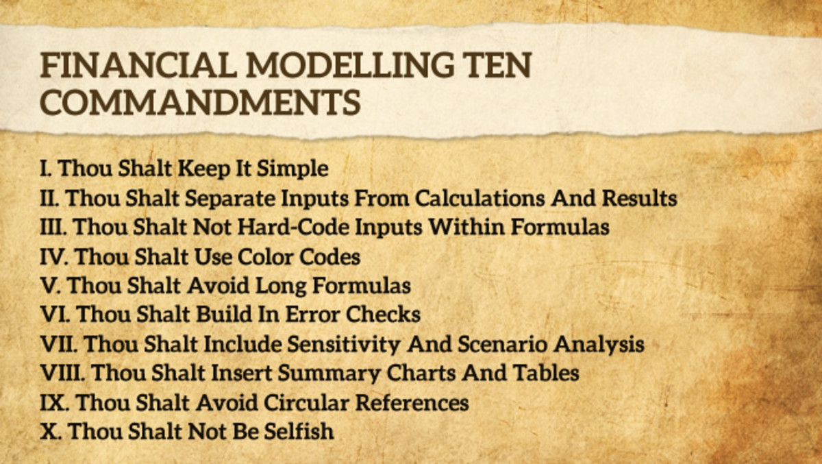 Ten Financial Modeling Commandments