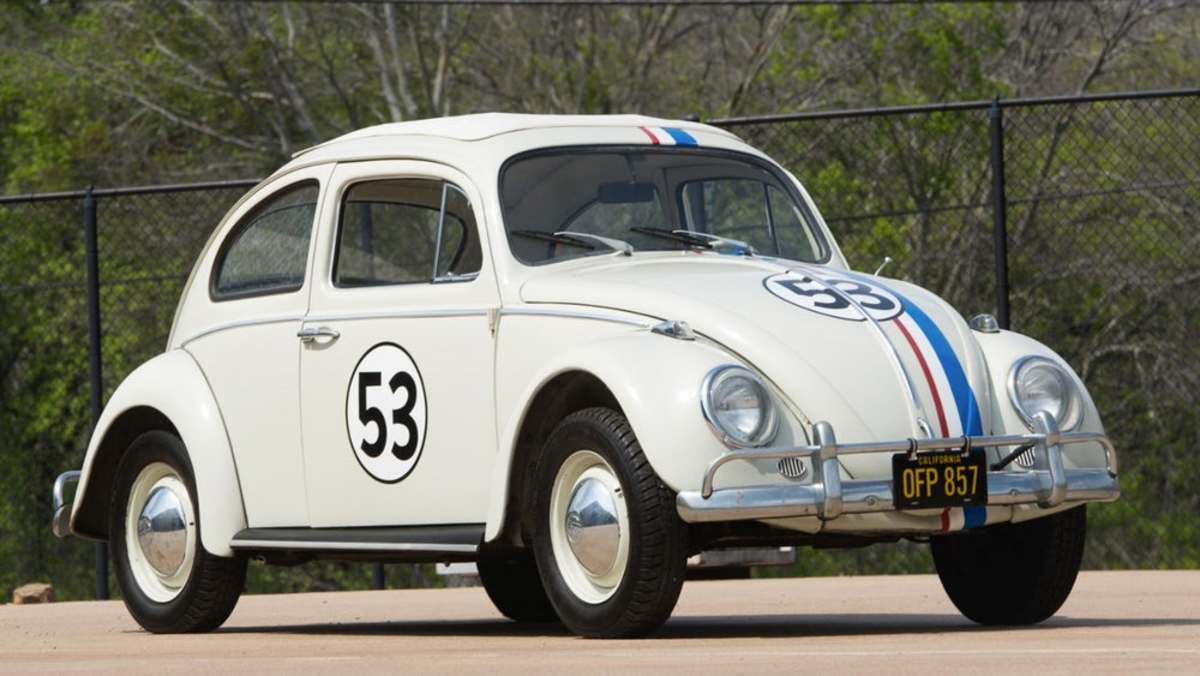 Herbie, complete with Hitler moustache
