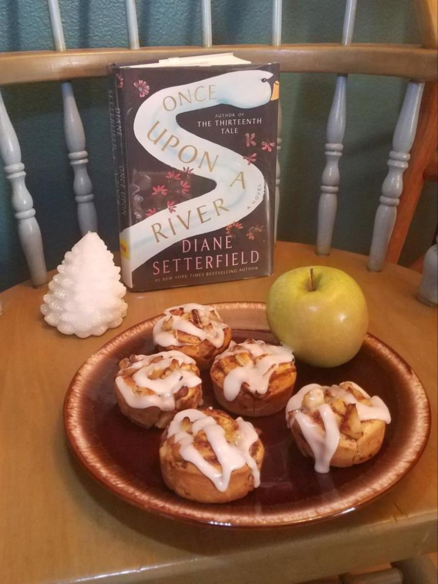 """""""Once Upon a River"""" Book Discussion and Easy Cinnamon Apple """"Buns"""" Recipe"""