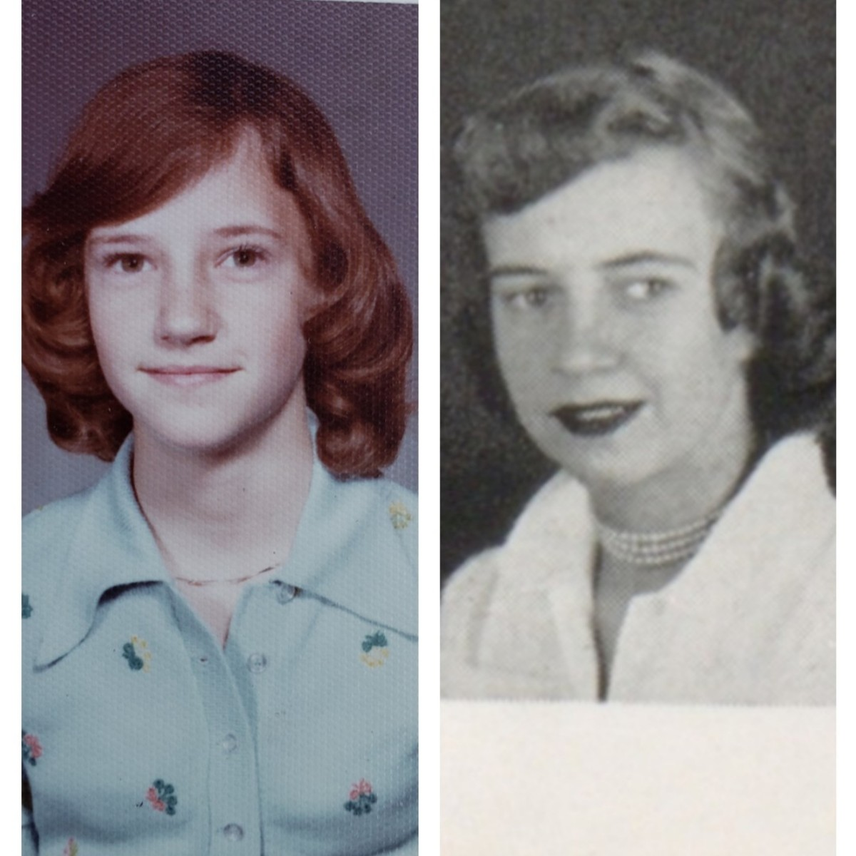A photograph of my mom and maternal grandmother, Carlene
