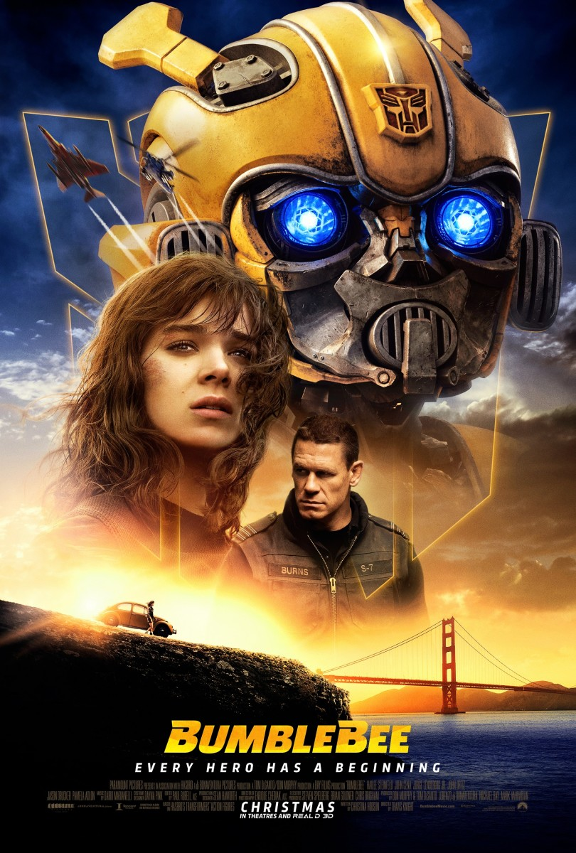 "The official payoff one-sheet theatrical poster for, ""Bumblebee."""