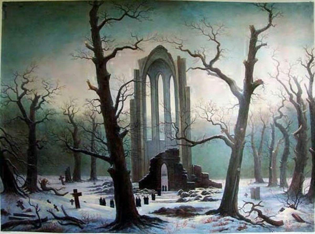 Cloister Cemetery in the Snow