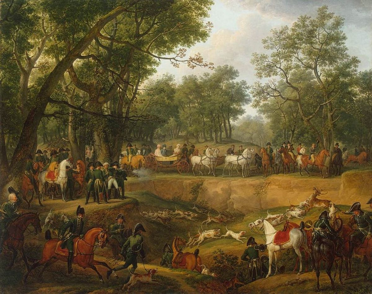 Napoleon on a successful hunt
