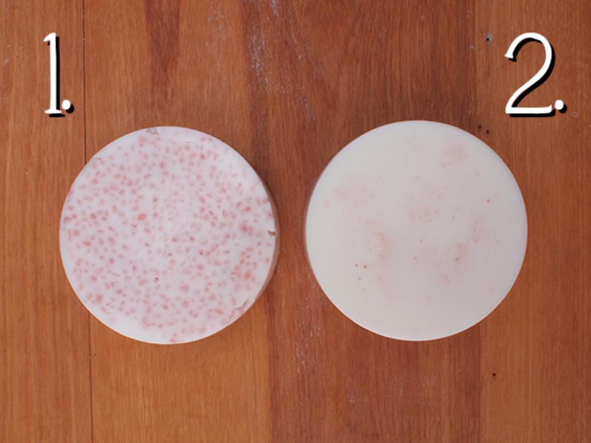 Trials for a Glycerin Soap Solid Scrub Bar Recipe