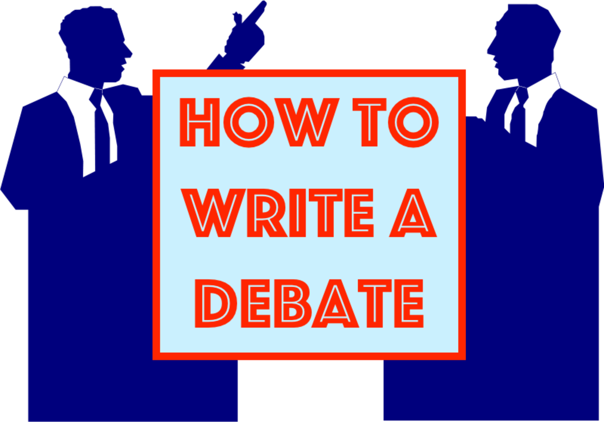 This article explores how to write a debate in six easy steps