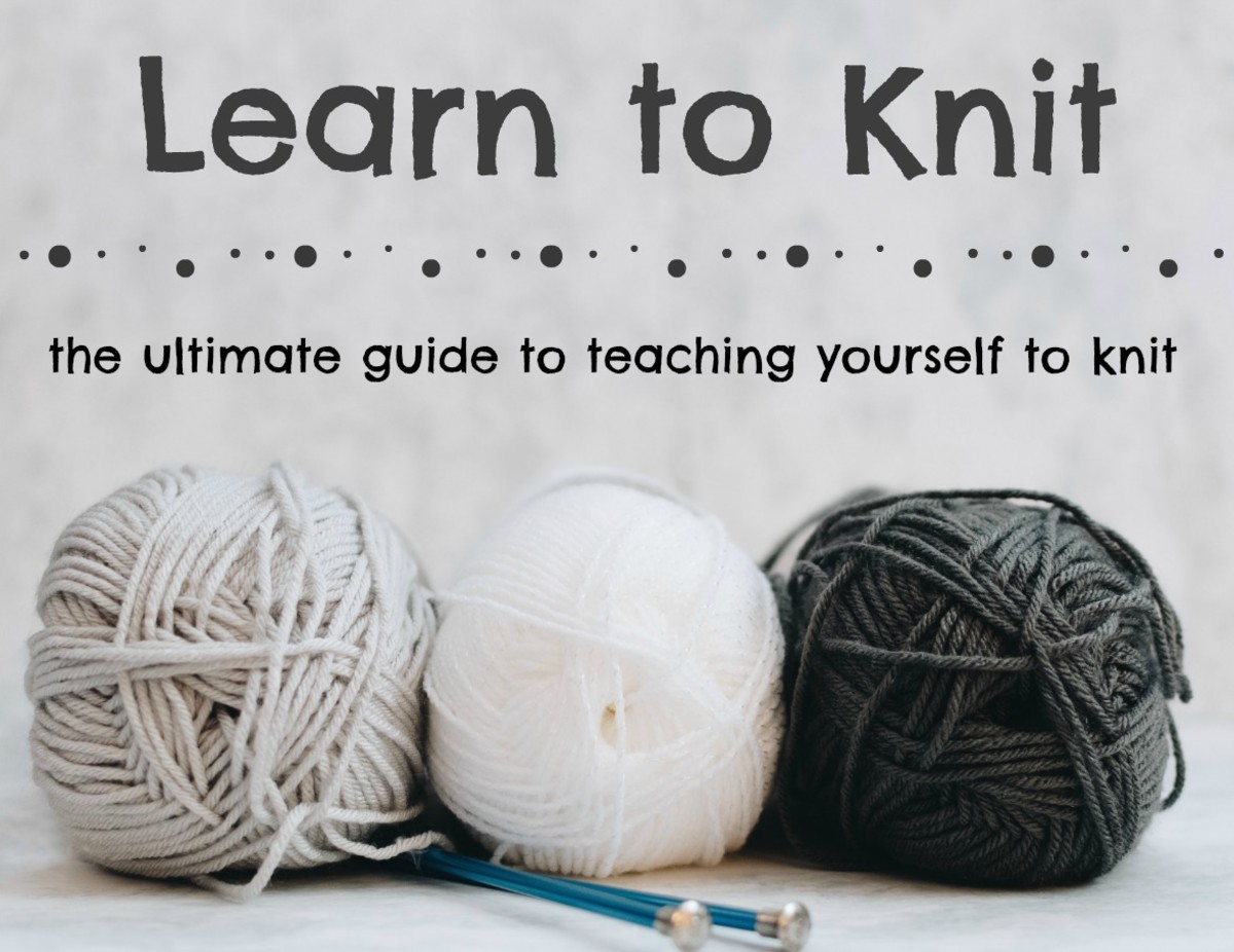This guide teaches you to learn to knit with online resources