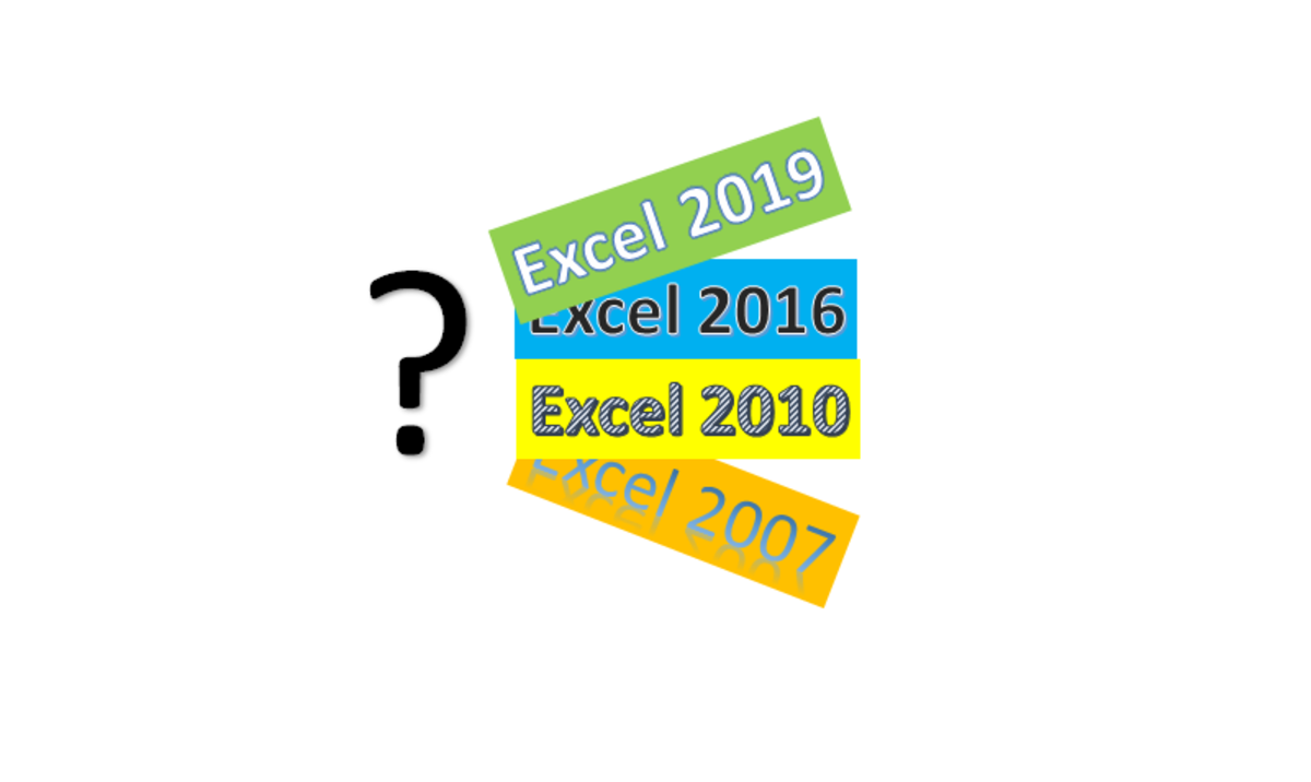 Knowing your Microsoft Excel version can help you better understand your limitations of functionality of your version.