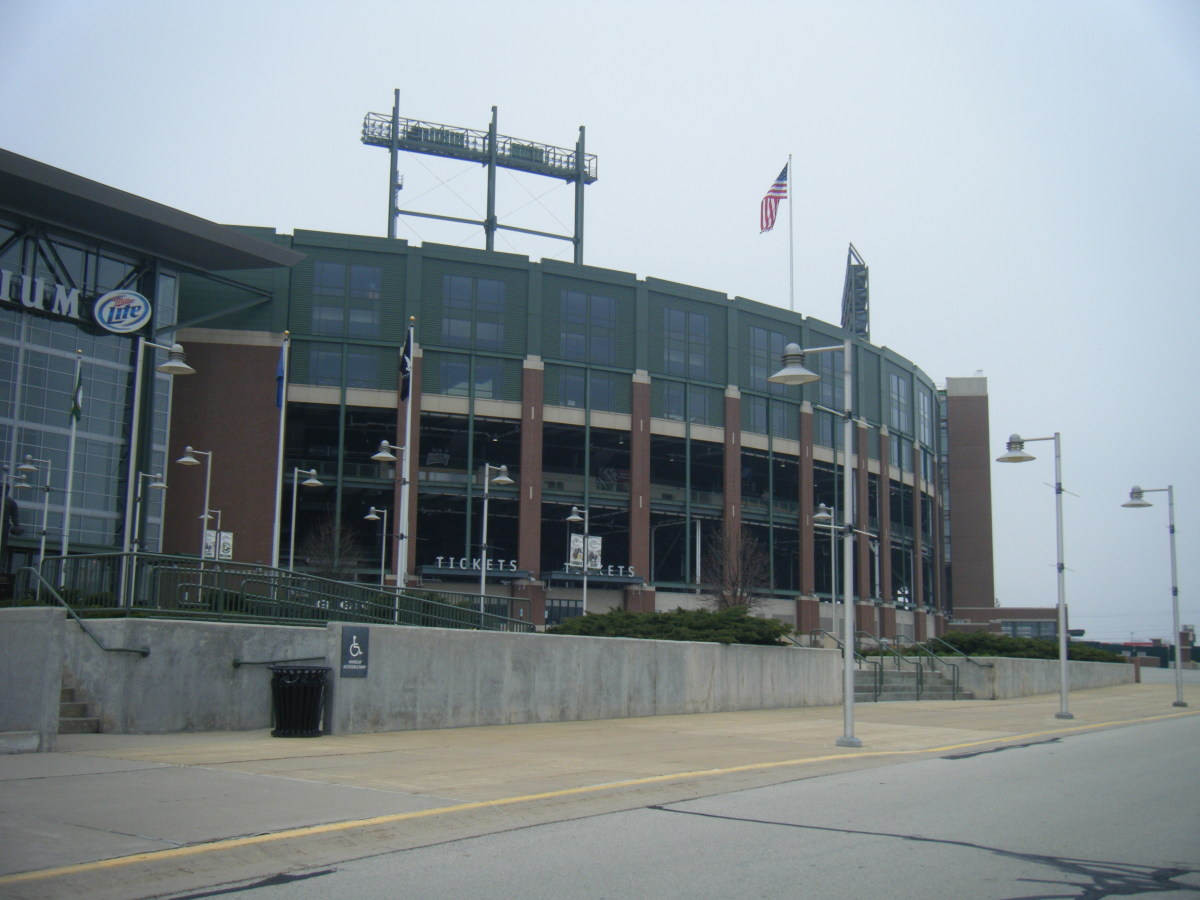 Lambeau Field is home to the Green Bay Packers