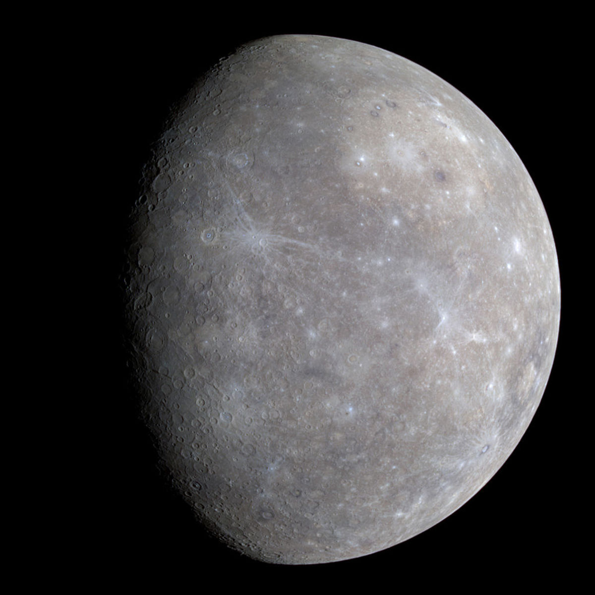 The planet Mercury (Image taken by MARINER).