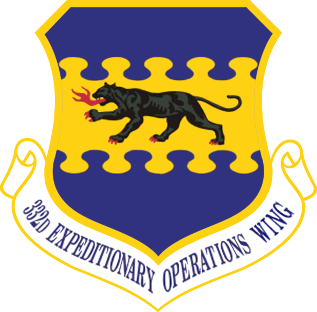 The official emblem of the Tuskegee Airmen of the 332d Air Expeditionary Wing of the USAF. The black panther is breathing fire and has fiery (or bloody) claws. The airmen were as fierce as this and more.