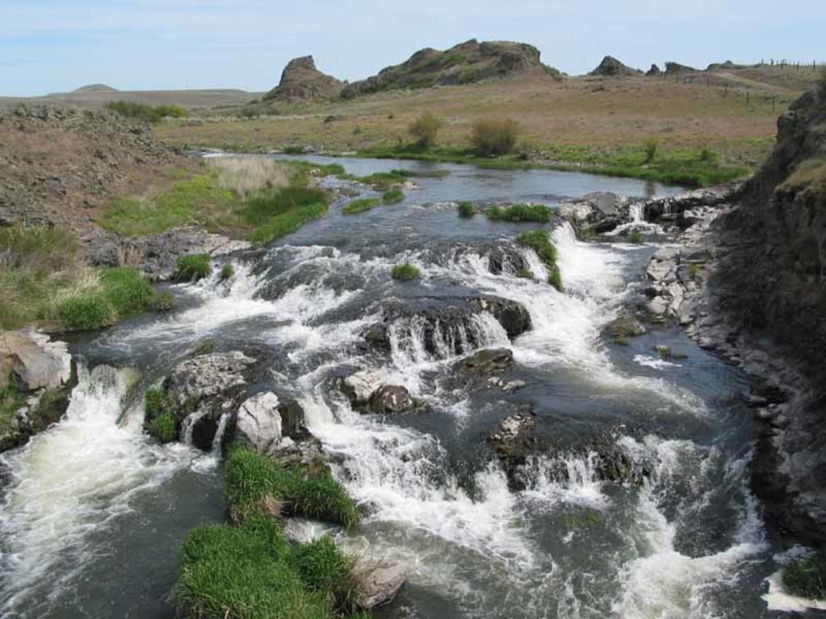 Rock Creek from the Jordan Knott bridge.