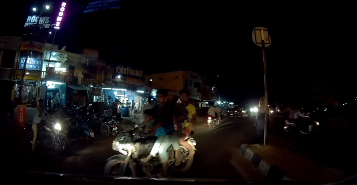 Motorcyclists can be dangerous on Indian roads!