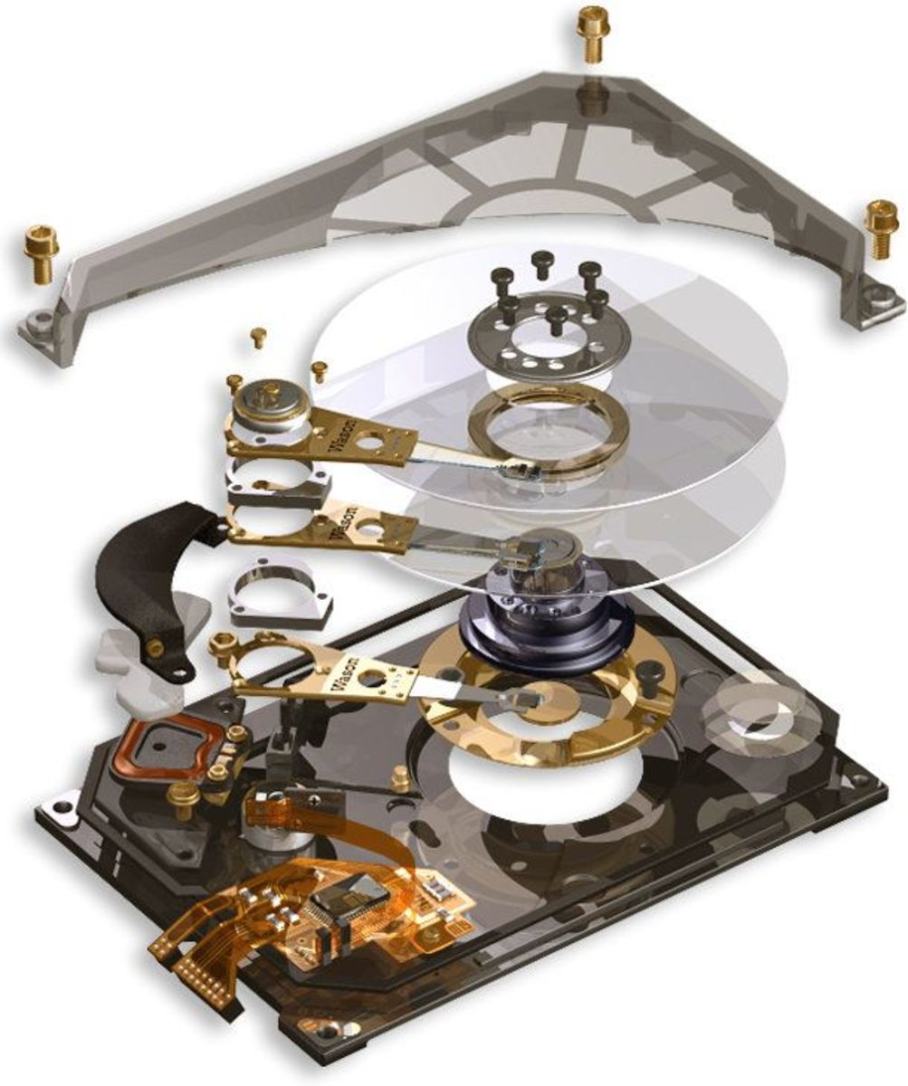 Mechanical Hard Drive (Exploded View)