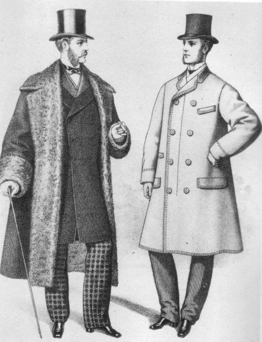 Victorian gentleman circa 1870s, sketch.