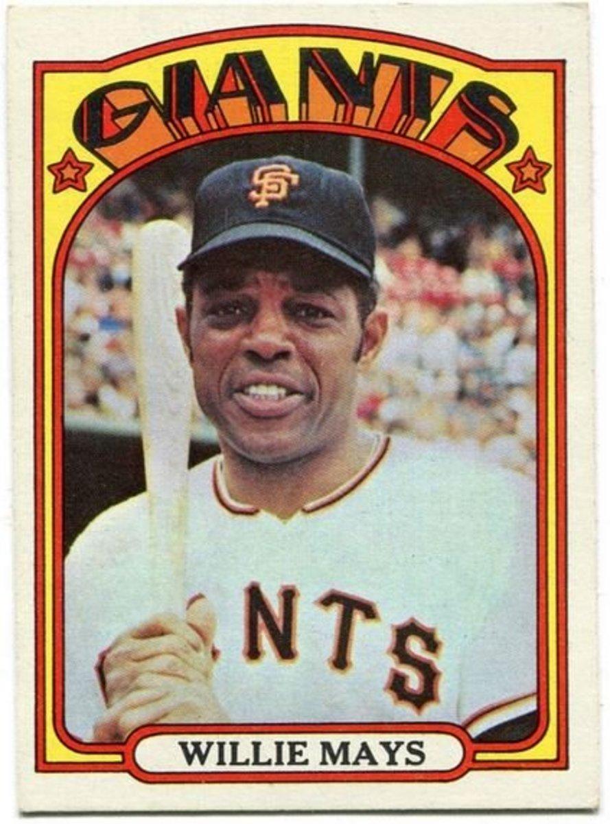1972 Topps Willia Mays Baseball Card