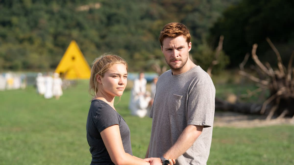 Dani (Florence Pugh) and Christian (Jack Reynor) in 'Midsommar' (2019) l A24