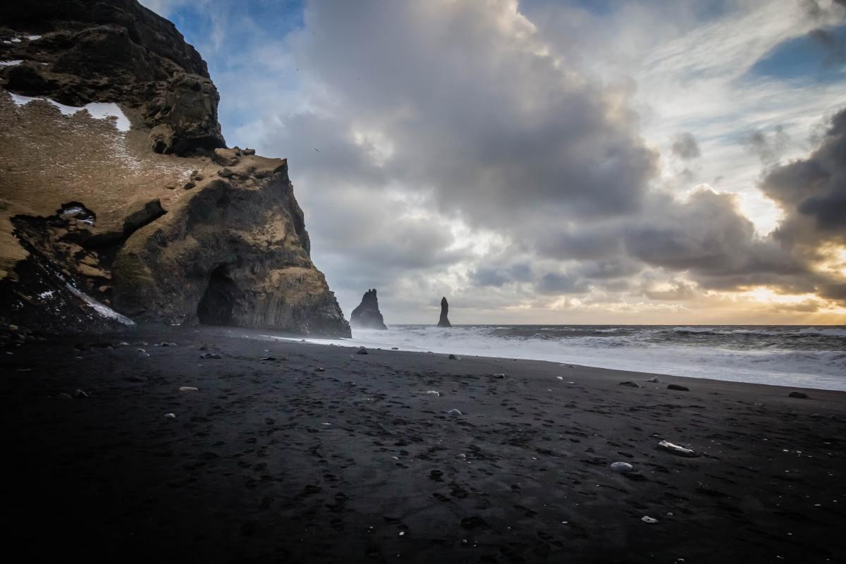 The Black-Sand Beach at Vik