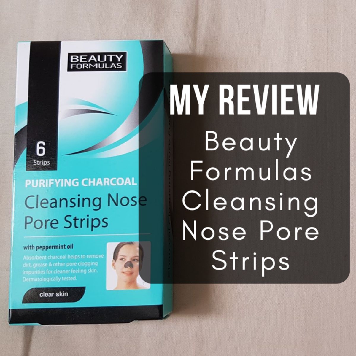 My review of Beauty Formulas Purifying Charcoal Cleansing Nose Pore Strips (with peppermint oil)