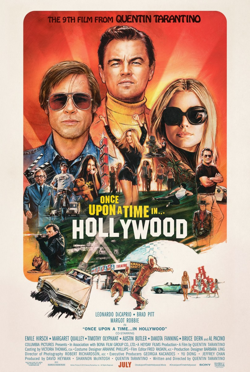 """The official one-sheet theatrical poster for, """"Once Upon a Time in Hollywood."""""""