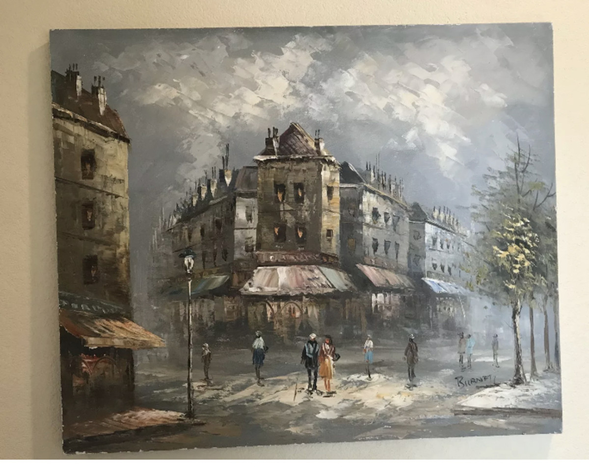 Burnett painting of Paris Street.