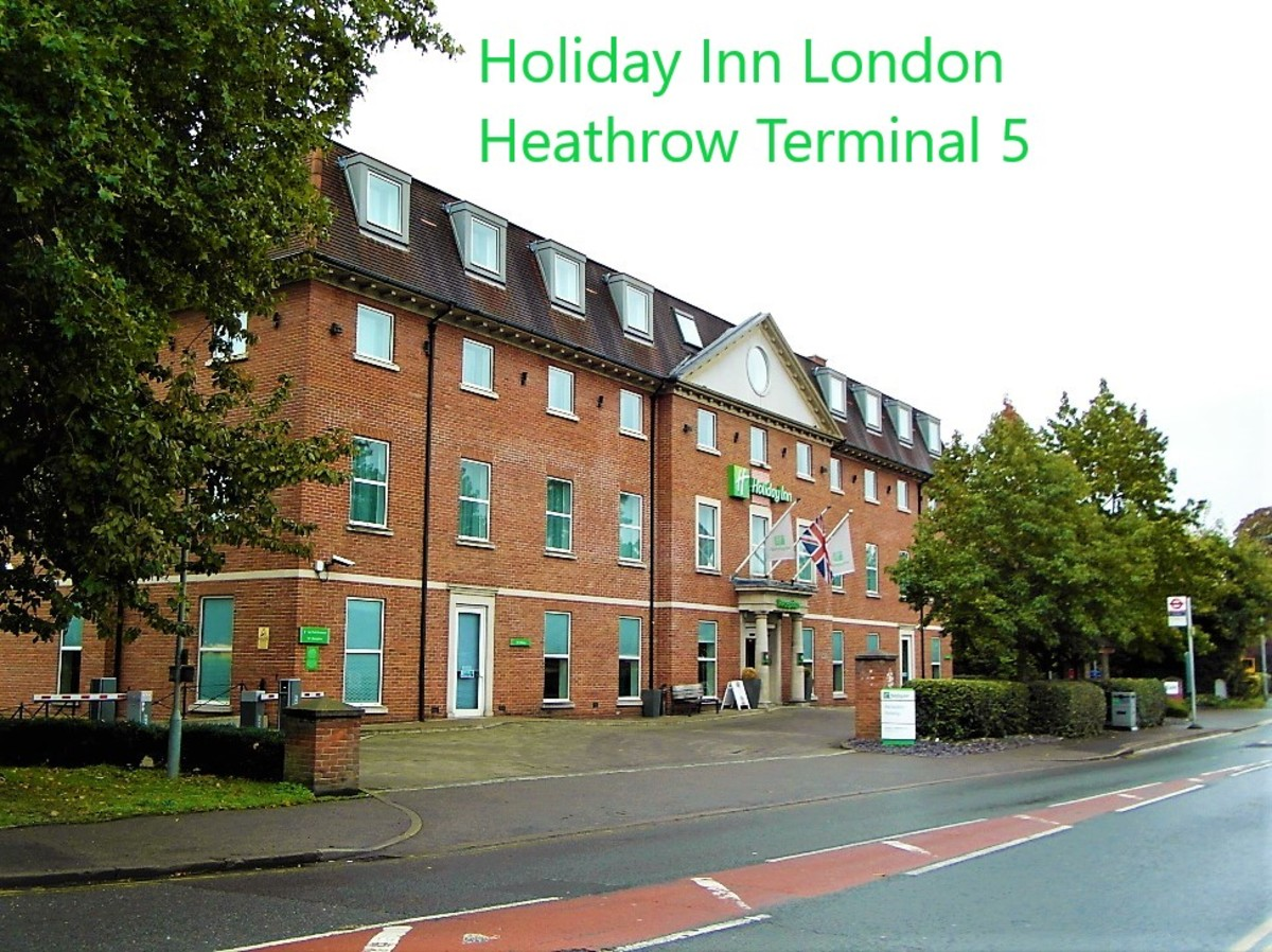 Front of Holiday Inn London Heathrow Terminal 5.