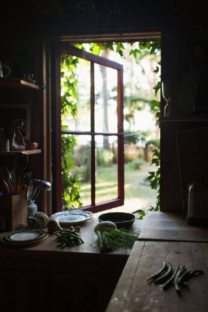 Through The Open Kitchen Window