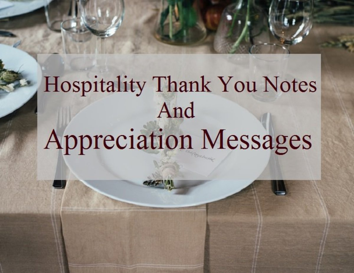 Take the time to thank a friend or family for their warm welcome and hospitality.