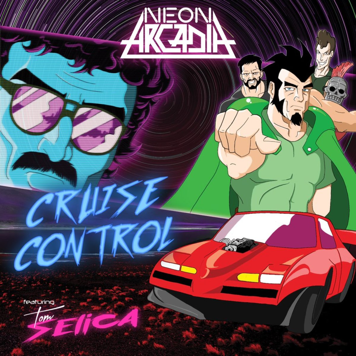"""Synthwave Single Review: """"Cruise Control"""" (Neon Arcadia feat. Tom Selica)"""