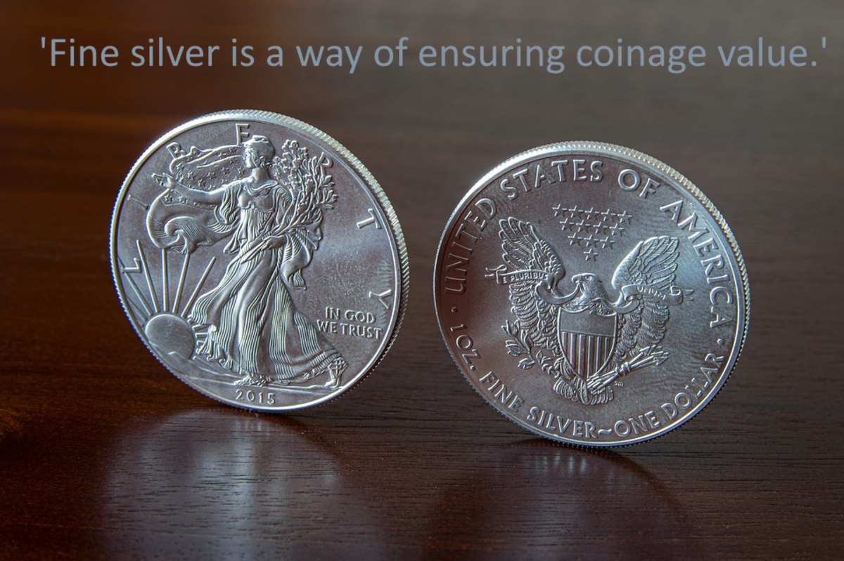 Fine silver (pure silver) coins are a good way to ensure that the value of currency is retained.