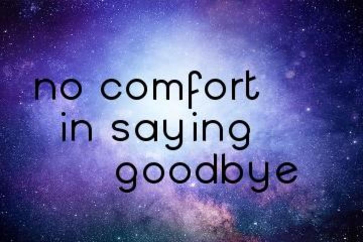 Poem: No Comfort in Saying Goodbye