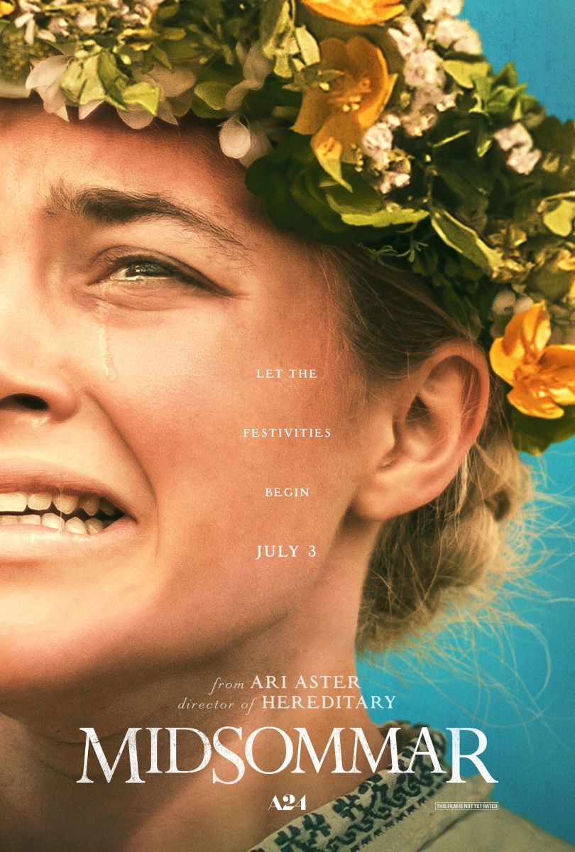 "The official theatrical poster for Ari Aster's, ""Midsommar."""