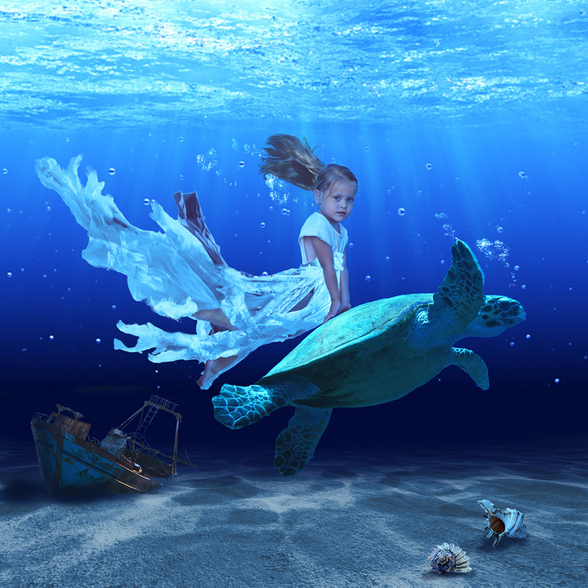 My water pixie photo composite.